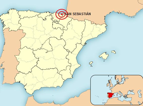 san sebastian espanha mapa Sol e Festa em San Sebastián, Espanha   Travel with Pedro san sebastian espanha mapa